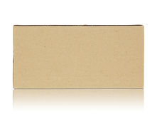 Blank cardboard box Royalty Free Stock Photos