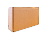 Blank cardboard box isolated Royalty Free Stock Photo