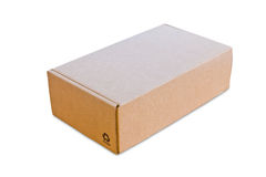 Blank cardboard box isolated Stock Images