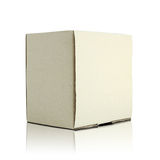 Blank cardboard box stock image