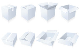 Blank cardboard  boxes Royalty Free Stock Image
