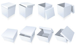 Blank cardboard boxes Royalty Free Stock Images