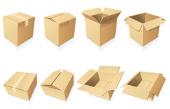 Blank cardboard  boxes Stock Photo