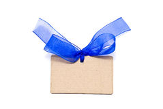 Blank cardboard gift tag Royalty Free Stock Photos