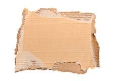 Blank cardboard piece. Blank cardboard signage isolated on white background stock image