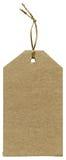Blank cardboard tag Stock Photo