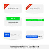 Blank cards collection Royalty Free Stock Photography