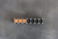 Blank cartridges magazine Stock Image