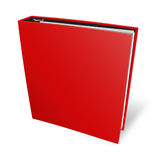 Blank case binder. Red binder on isolated white background Royalty Free Stock Image