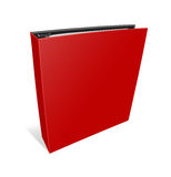 Blank case binder. Red binder on isolated white background Royalty Free Stock Photo