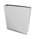 Blank case binder. White binder on isolated white background Stock Photography