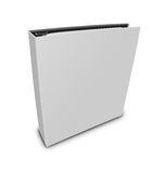 Blank case binder. White binder on isolated white background Royalty Free Stock Images