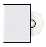 Blank Case and DVD. A DVD Case with a dvd disc, isolated on a white background. A clipping path is included for the cover of the disc and the case vector illustration