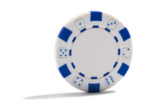 Blank casino or poker chip Royalty Free Stock Image
