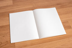 Blank catalog and book , magazines,book mock up on wood backgrou. Nd Stock Photo