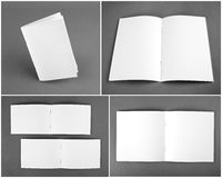Blank catalog, brochure, magazines, book mock up. Royalty Free Stock Photos