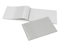 Blank catalog in A4 horizontal size. On white background Stock Photo
