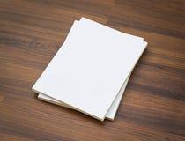Blank catalog, magazines,book mock up Stock Photo