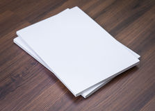 Blank catalog, magazines,book mock up Royalty Free Stock Photography