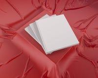 Blank catalog, magazines,book mock up on wood background 3d illustration. Textbook,  texture,  tissue,  up,  velvet,  wave,  white,  wood Stock Image
