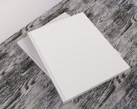 Blank catalog, magazines,book mock up on wood background 3d illustration. Textbook, texture, tissue, up, velvet, wave, white, wood royalty free illustration