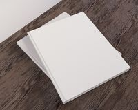 Blank catalog, magazines,book mock up on wood background 3d illustration. Textbook, texture, tissue, up, velvet, wave, white, wood stock illustration