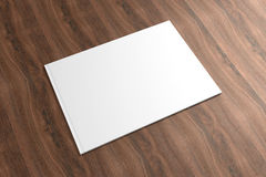 Blank Catalog on the wooden Background. For your design Stock Photo