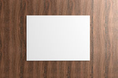 Blank Catalog on the wooden Background Stock Photos
