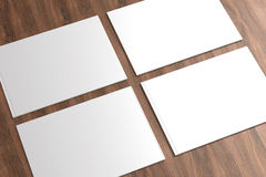 Blank Catalog on the wooden Background Royalty Free Stock Photos