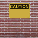 Blank Caution Sign Stock Photo