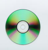 Blank CD. Extreme close up of a blank cd over white background Stock Photography