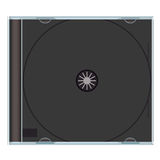Blank cd case black Royalty Free Stock Photography