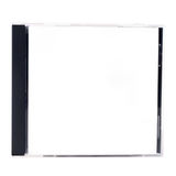 A blank CD case on a white background Stock Photo