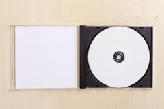 Blank CD Case on wood Royalty Free Stock Photo