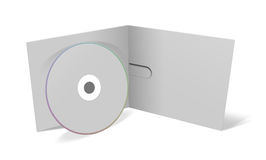 Blank cd cover. 3d illustration isolated on white background Stock Photography