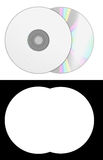 Blank cd disk 3d render on white with alpha channel. Image Stock Photography