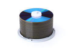 A blank cd disks pile with clipping path Stock Images