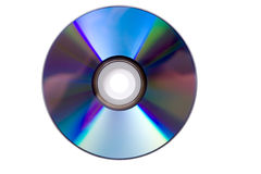Blank CD or DVD. On white background Royalty Free Stock Image