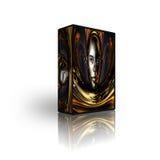 Blank CD DVD box template Royalty Free Stock Photo