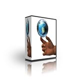 Blank CD DVD box template Stock Photo