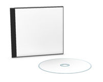 Blank cd or dvd jewel case Royalty Free Stock Image