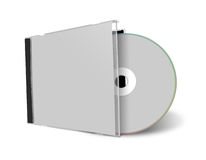 Blank CD or DVD mock up set Stock Photos