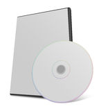 Blank CD or DVD mock up set. Clipping path included for easy selection Royalty Free Stock Image