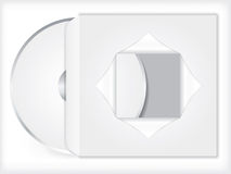 Blank cd/dvd with sleeve Royalty Free Stock Photo