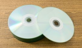 Blank CD or DVD in Storage Box Stock Photo