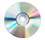 Blank CD glare. On the white background Royalty Free Stock Photo