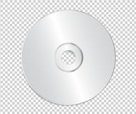 Blank CD Template on Transparent Background With Shadow. Vector stock illustration