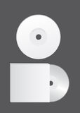 Blank cd vector. Blank cd over gray background. vector illustration Royalty Free Stock Photos