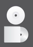blank cd vektor royaltyfri illustrationer