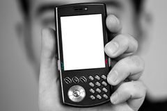 Blank Cell Phone Screen Royalty Free Stock Image